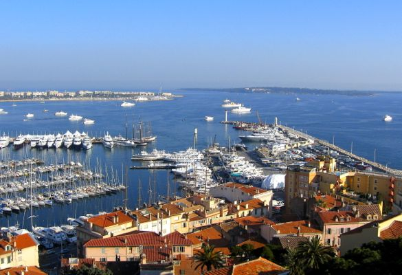 The port of Cannes, France.