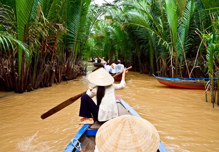 Mekong Delta in Vietnam and Cambodia.
