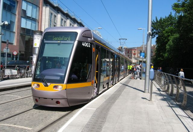 Light Rail in Dublin.