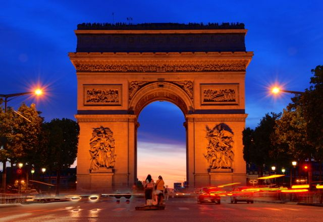 Arc de Triomphe in Paris.