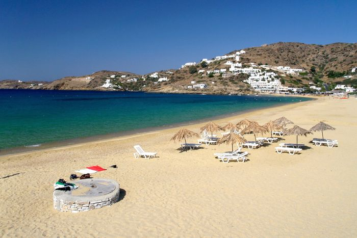 Mylopotas Beach on Ios in the Cyclades.
