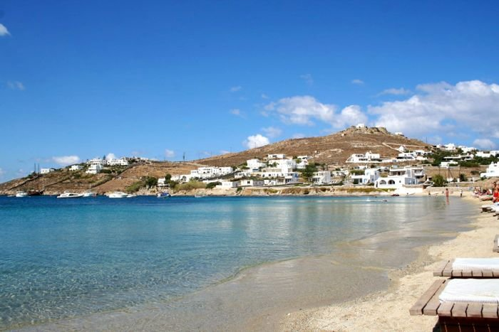 Ornos Beach on Mykonos.