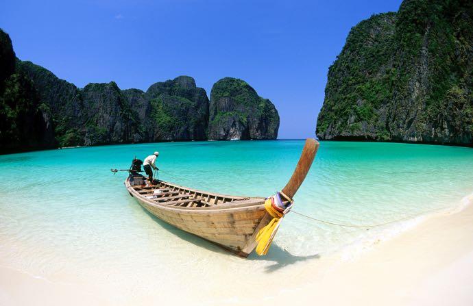 Maya Beach on Koh Phi Phi Lee.