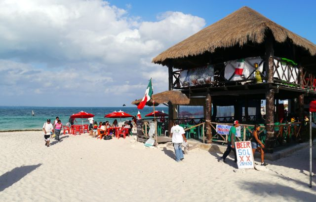 Beach restaurant in Cancun