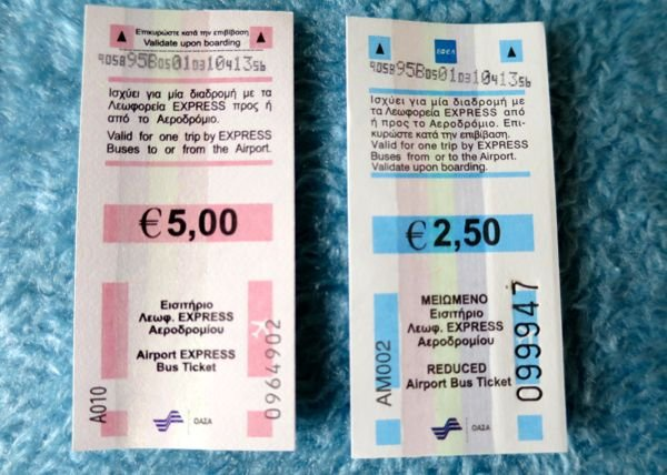 Bus tickets for Airport buses.