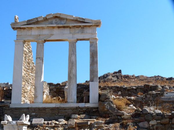 Ancient attractions on the island of Delos.