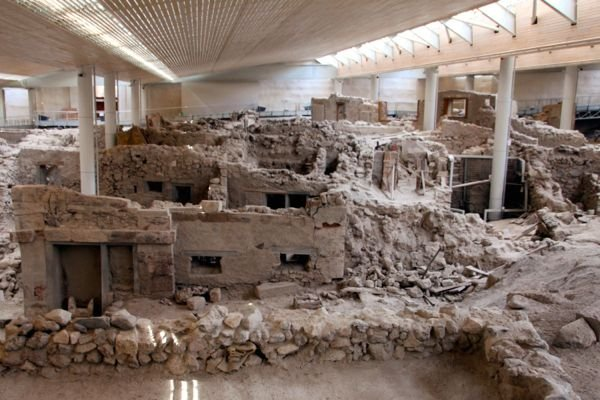 The historical site of Akrotiri.