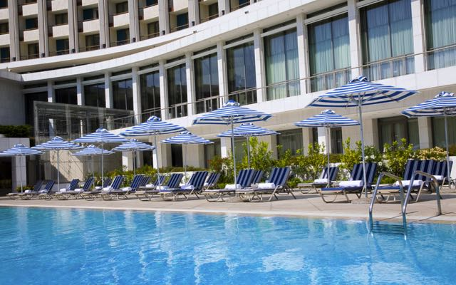 The best hotel swimming pool in Athens: Hilton Athens.