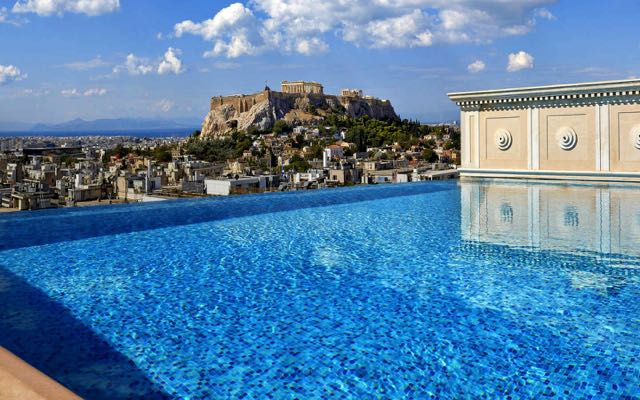 The best hotel views of the Acropolis: King George Hotel in Syntagma.