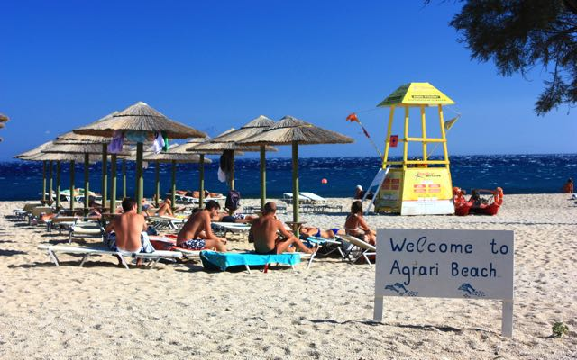 Agrari beach on Mykonos.