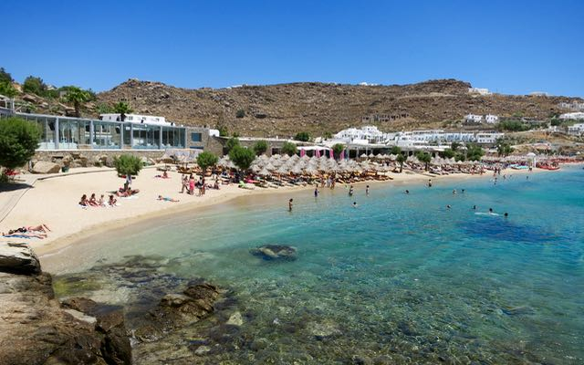Paradise Beach on Mykonos – Beach club and dancing make it the best party beach.