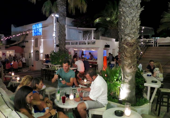 The best dance bar in Santorini.