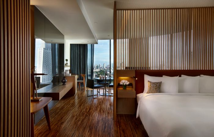 Rooms at Bangkok's luxury SO Sofitel Hotel are designed around the Four Elements.