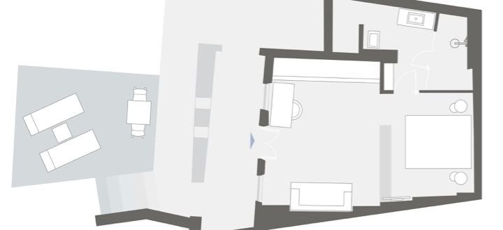 Room Layout and Dimensions at Grace Santorini.