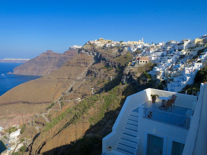 View of Imerovigli from Fira.