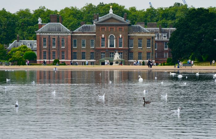 Kensington Palace, home to the Duke and Duchess of Cambridge