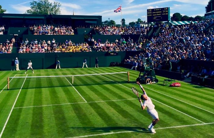 World famous tennis tournament in London