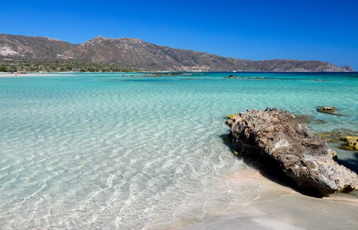 The best beach in Greece: Elafonisi in southwestern Crete.