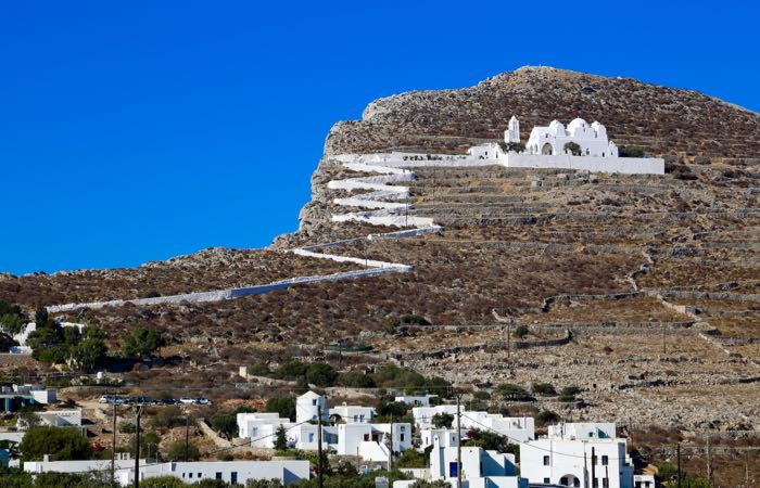 Folegandros – Close to Santorini and great for hikes around the countryside.