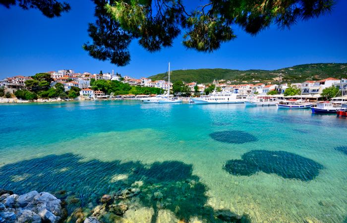 Skiathos is a great choice away from the usual tourist track. Popular with Greeks and filled with beautiful beaches.
