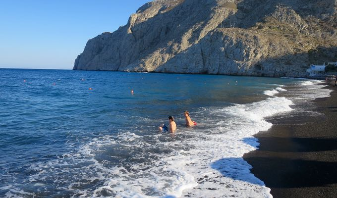 Best swimming spot near Fira.