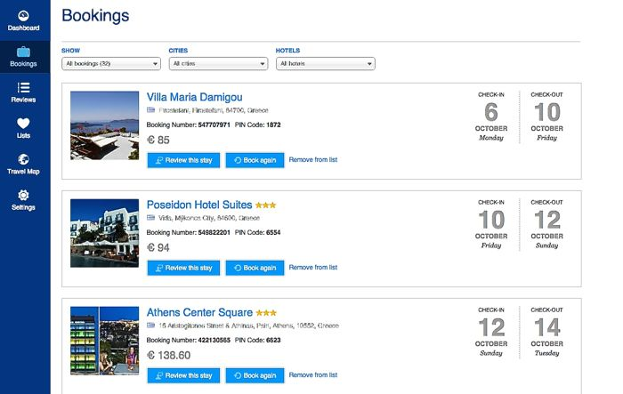 Booking Accommodations Dimensions Width