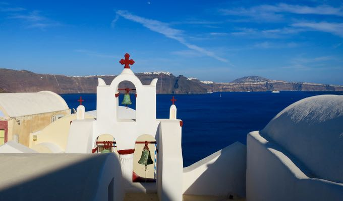 A view towards Fira from Oia.