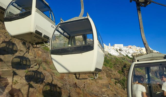 Cable car in Fira.
