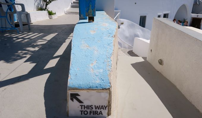 It's easy to get (happily) lost in the paths and stairwells of Santorini.
