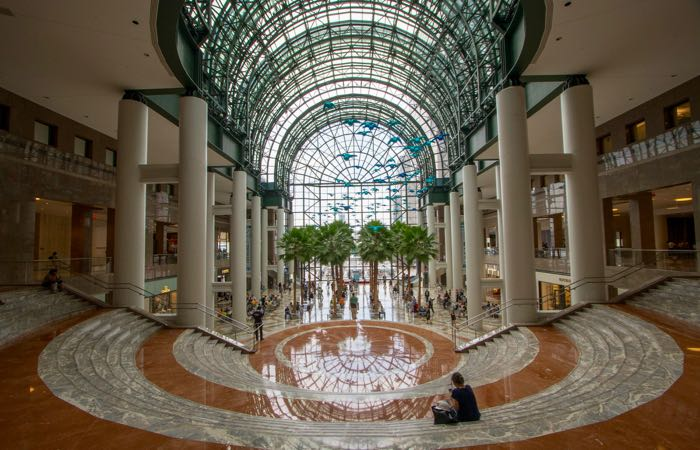 The stunning glass atrium in New York's Brookfield Place