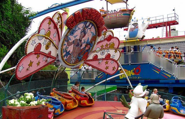 Hanayashiki Amusement Park in Tokyo, Japan