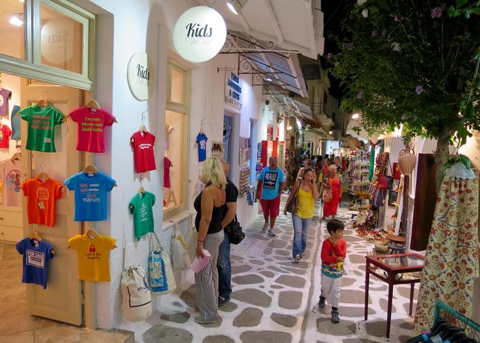 The best Greek island for families with teens is Paros.