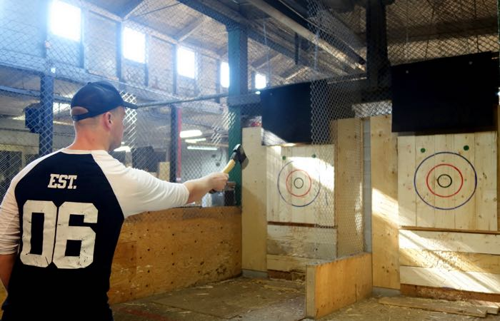 Try your hand at axe throwing in BATLGround Toronto.