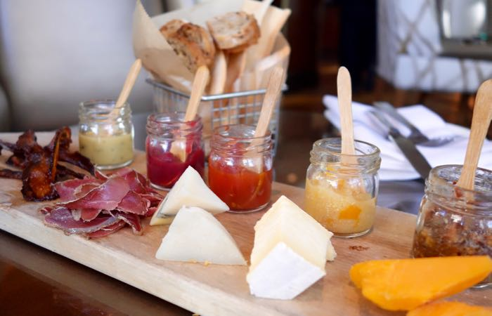 The restaurant in Chicago's luxury Omni hotel features house-cured charcuterie.