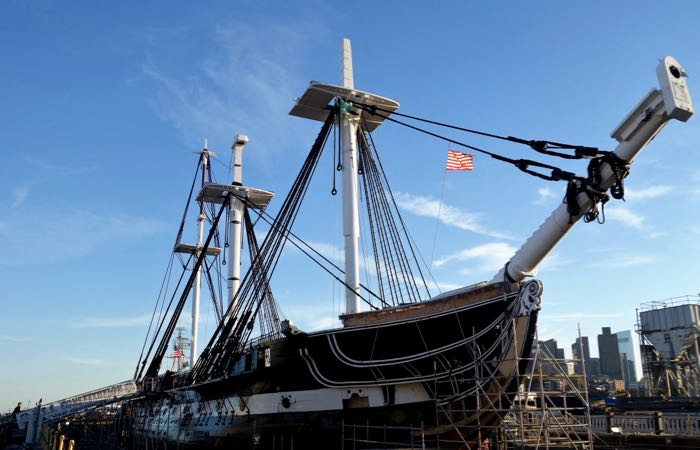 "The naval ship, the USS Constitution, is also known as ""Old Ironsides."""