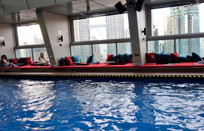 Kuala Lumpur's Traders Hotel features a fantastic rooftop pool and bar.