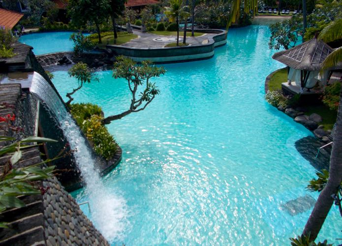 The hotel with the best swimming pool in Bali.
