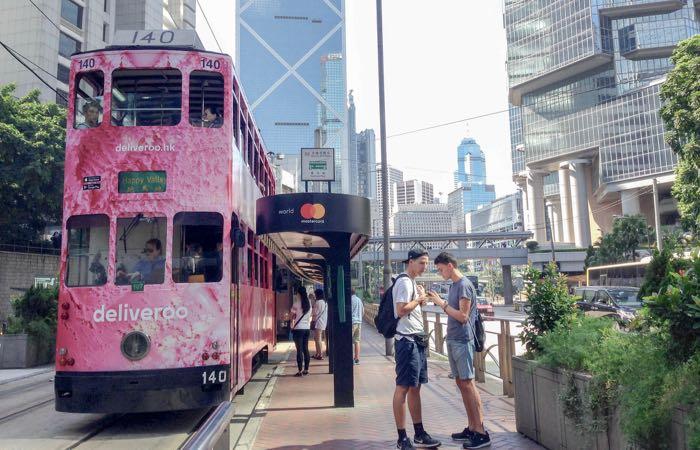 Ride a double decker tram from Hong Kong Tramways.