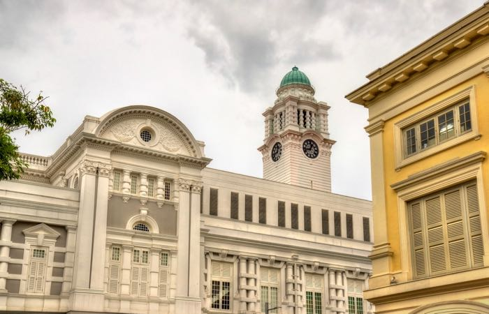 The Colonial District in downtown Singapore
