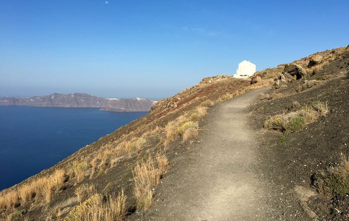Hills on Fira to Oia path.