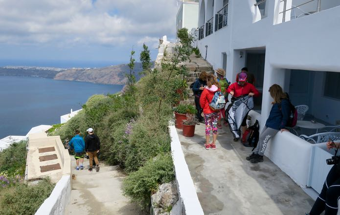 Hiking trail from Fira to Oia.