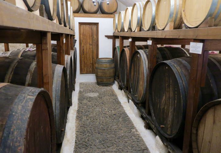 Private tour of Santorini winery and wine making.