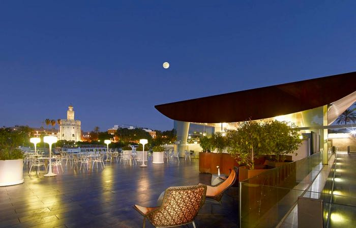 Abades Triana gourmet restaurant in Seville with great views