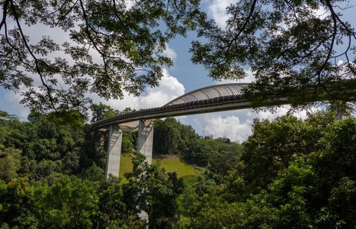 The Henderson Wave Bridge and Mount Faber Park, Singapore