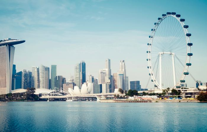 The Singapore Flyer is a 165m-tall ferris wheel, the second tallest in the world.