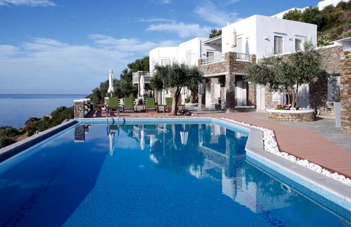 Best Sifnos luxury hotel with view and pool.