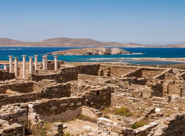 Day tour of Delos island from Mykonos.