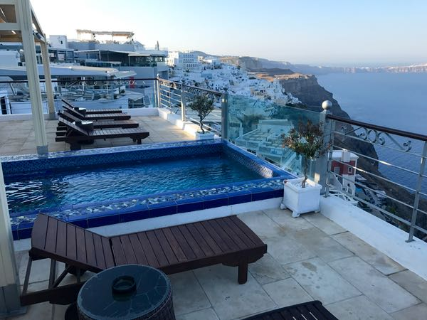 Nefeles Swimming Pool in Santorini.