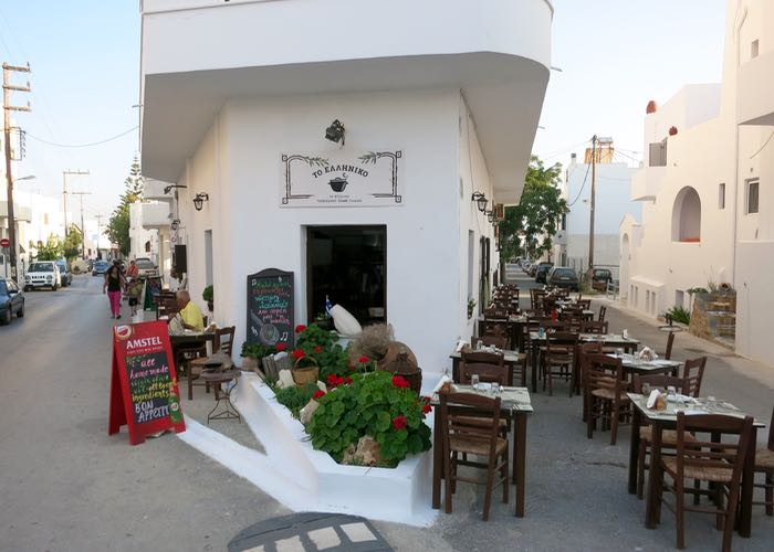 Best Greek island for local food: Naxos.