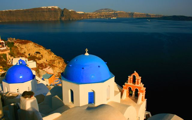 The caldera towns are the best place to stay in Santorini.